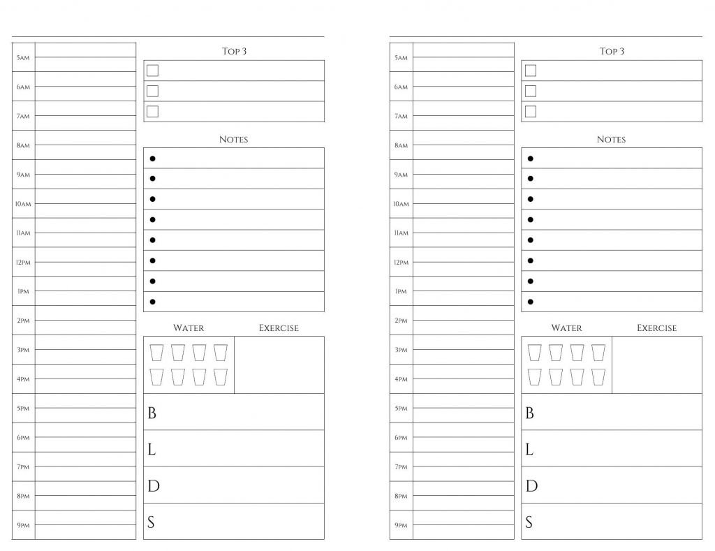 Free Printable Calendar 5.5 X 8.5 In 2020   Calendar Weekly Planner Template 5.5