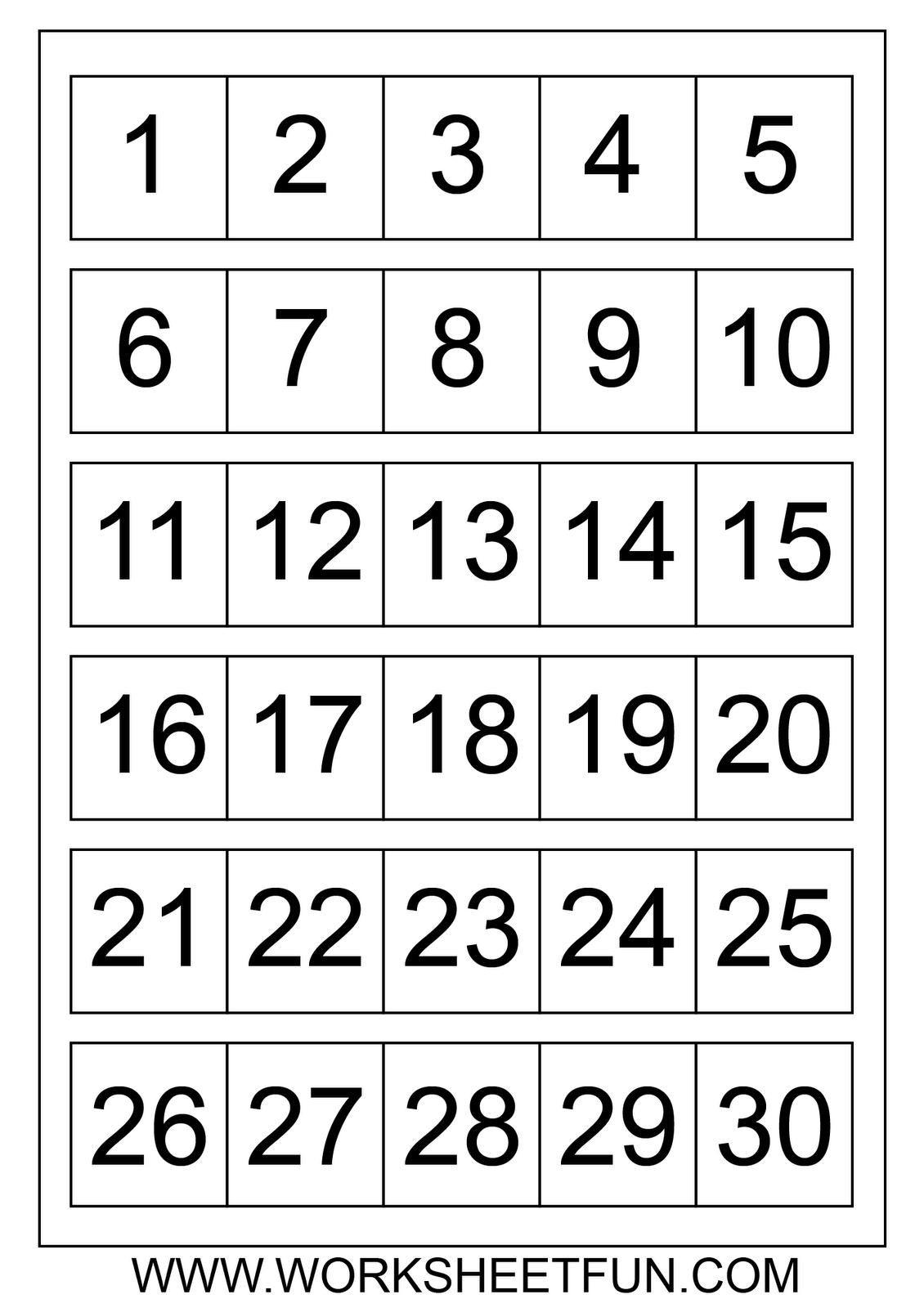 Free Printable Calendar Numbers 1 31 Pdf | Ten Free Calendar Numbers Printable 1 31