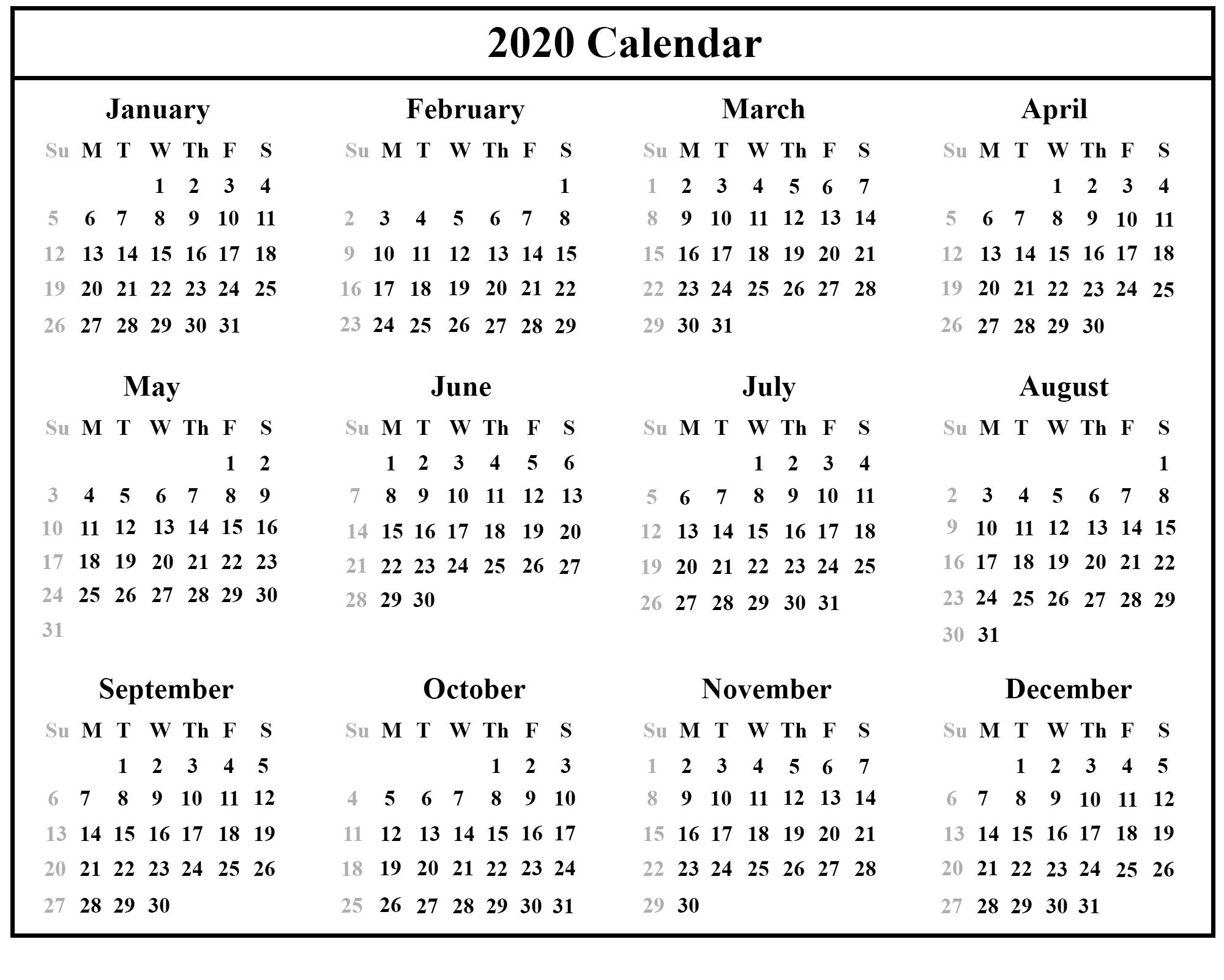 Free Printable Calendar Small | Calendar Printables Free Small Printable Blank Calendar