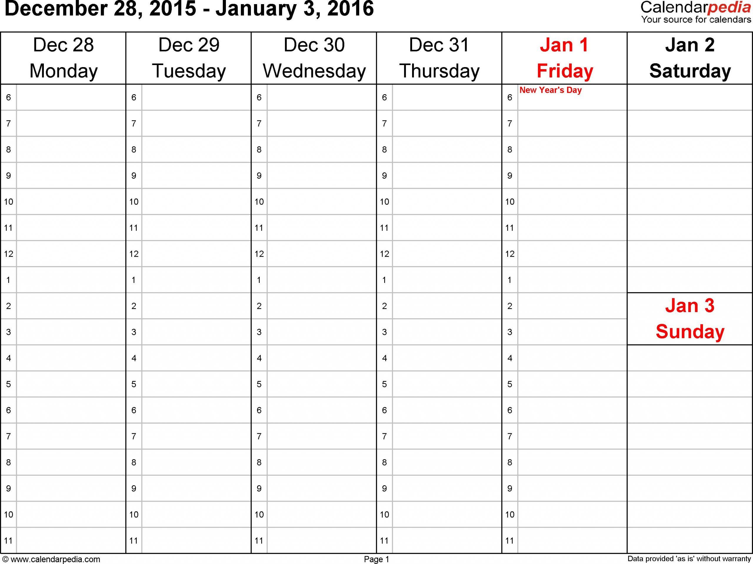 Free Printable Calendars Monday Thru Sunday | Calendar Schedule Template Printable Monday  Sunday