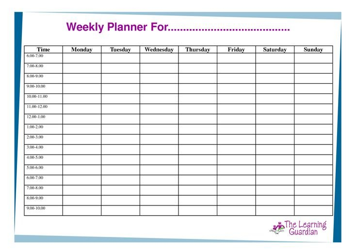 Free Printable Weekly Calendar Templates   Weekly Planner Weekly Calendar Saturday To Friday