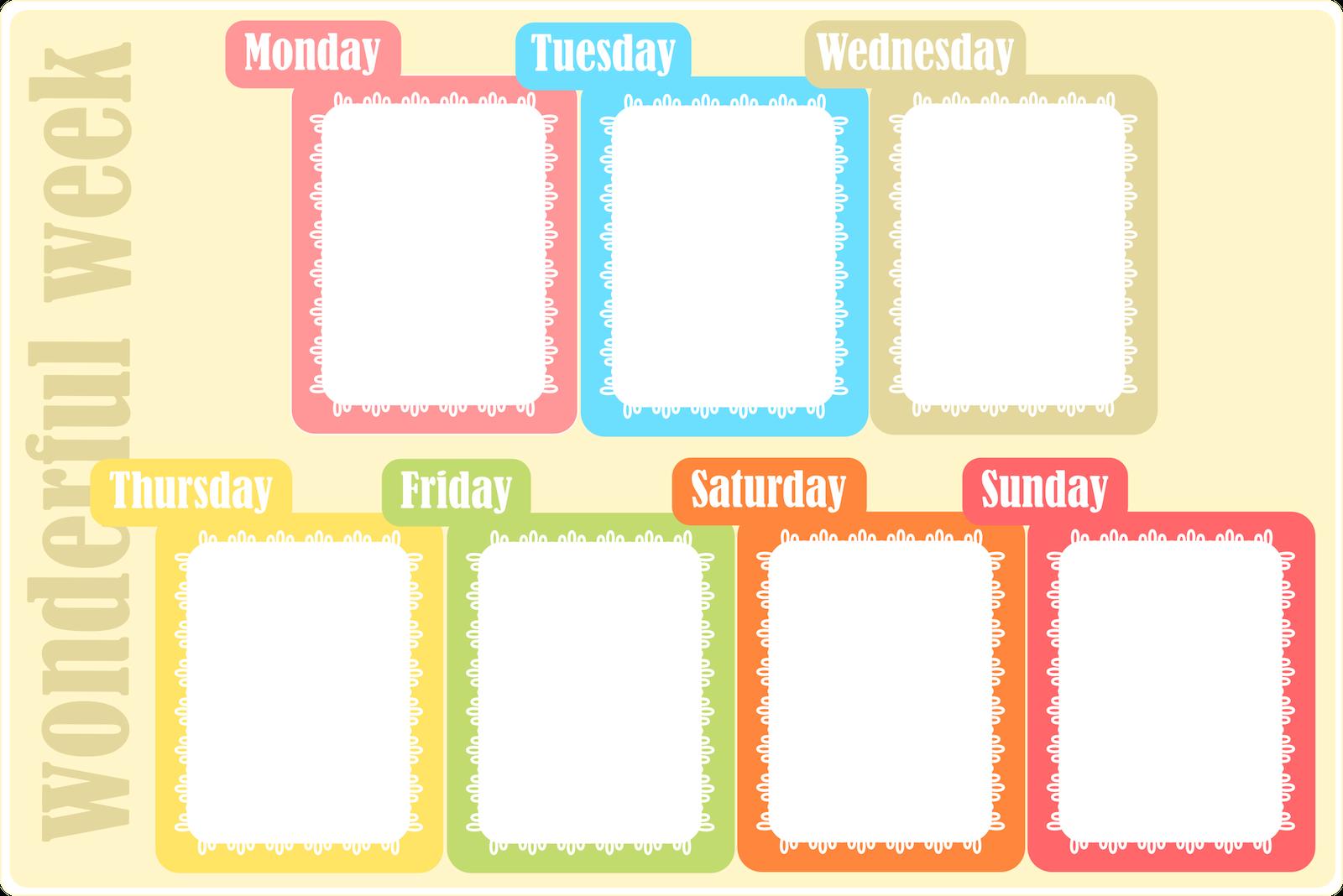 Free Printable Weekly Planner – Ausdruckbarer Wochenplan 1 Week Schedule Printable