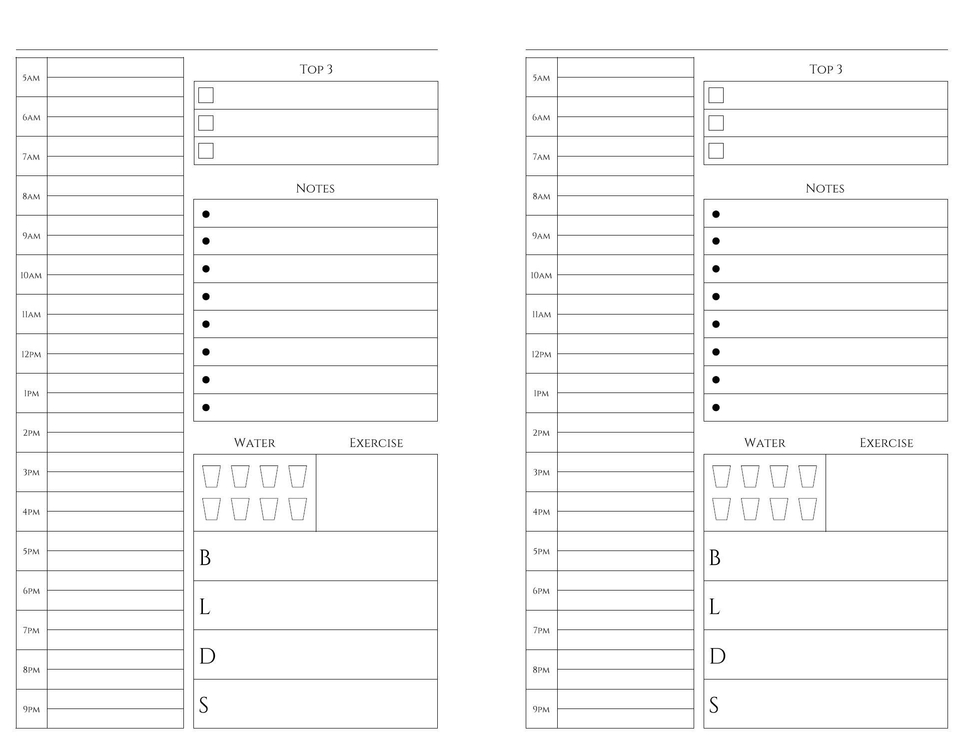 Free Printables | Weekly Planner Printable, Monthly Printable 8 Week Calendar