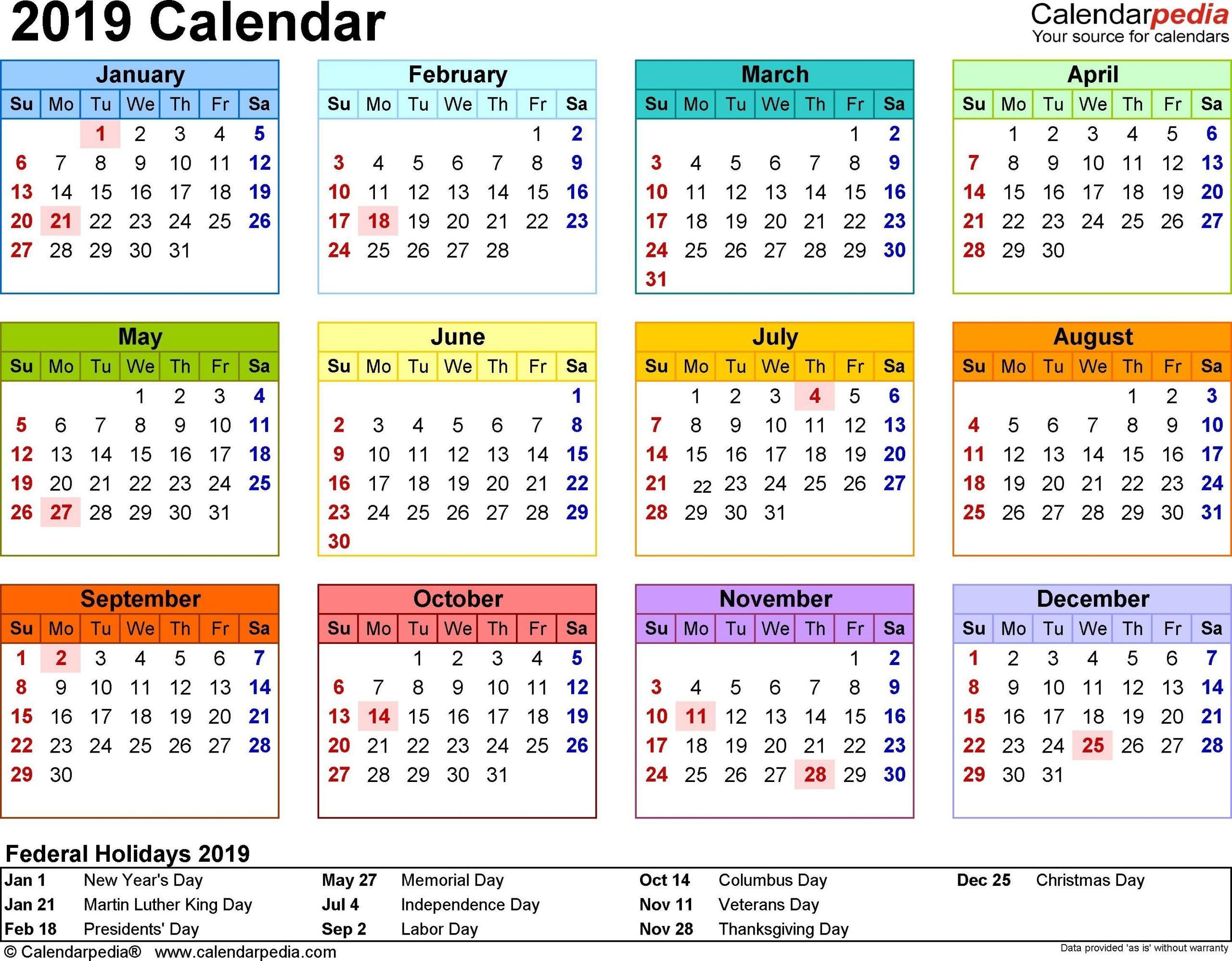 Free Yearly 5.5 X 8.5 Calendar 2020 | Calendar Template 8.5 X 5.5 Calendar