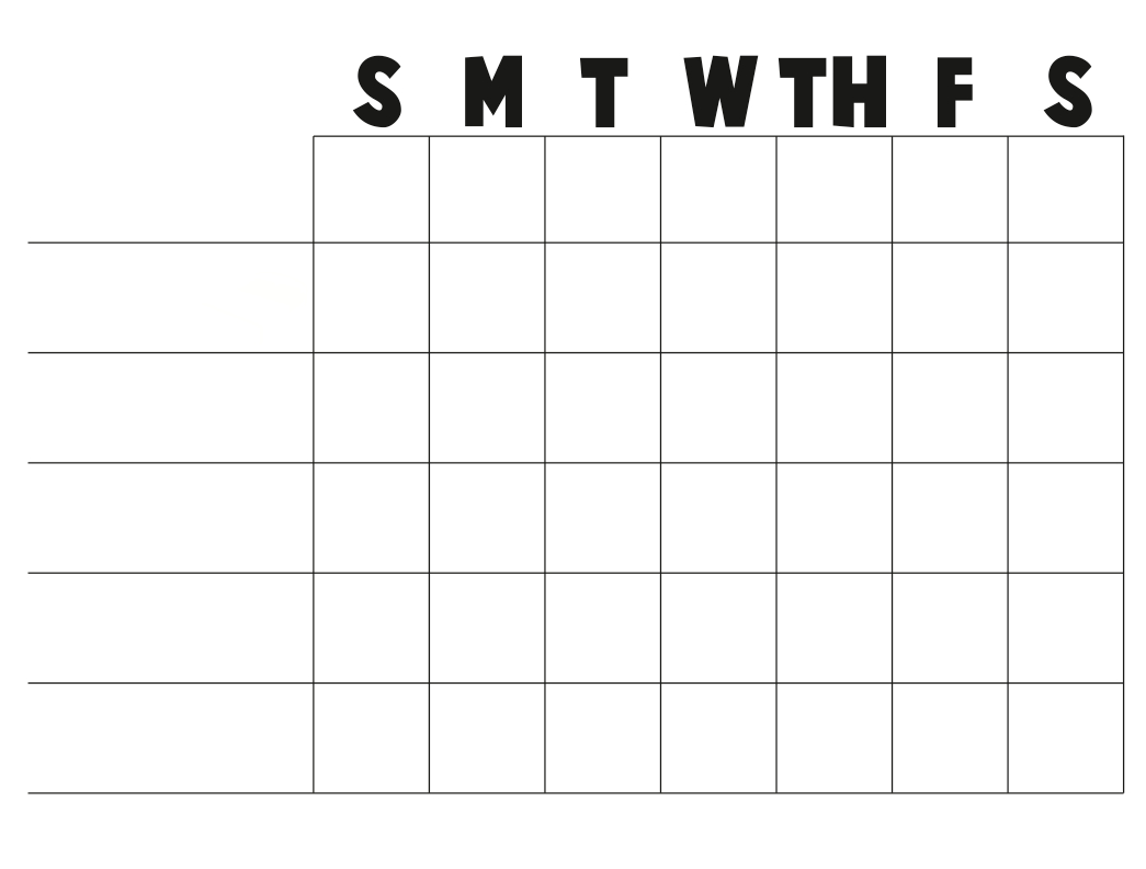 Free+Printable+Blank+Charts | Or A Blank Chart You Can Free Fill In Weekly Schedule