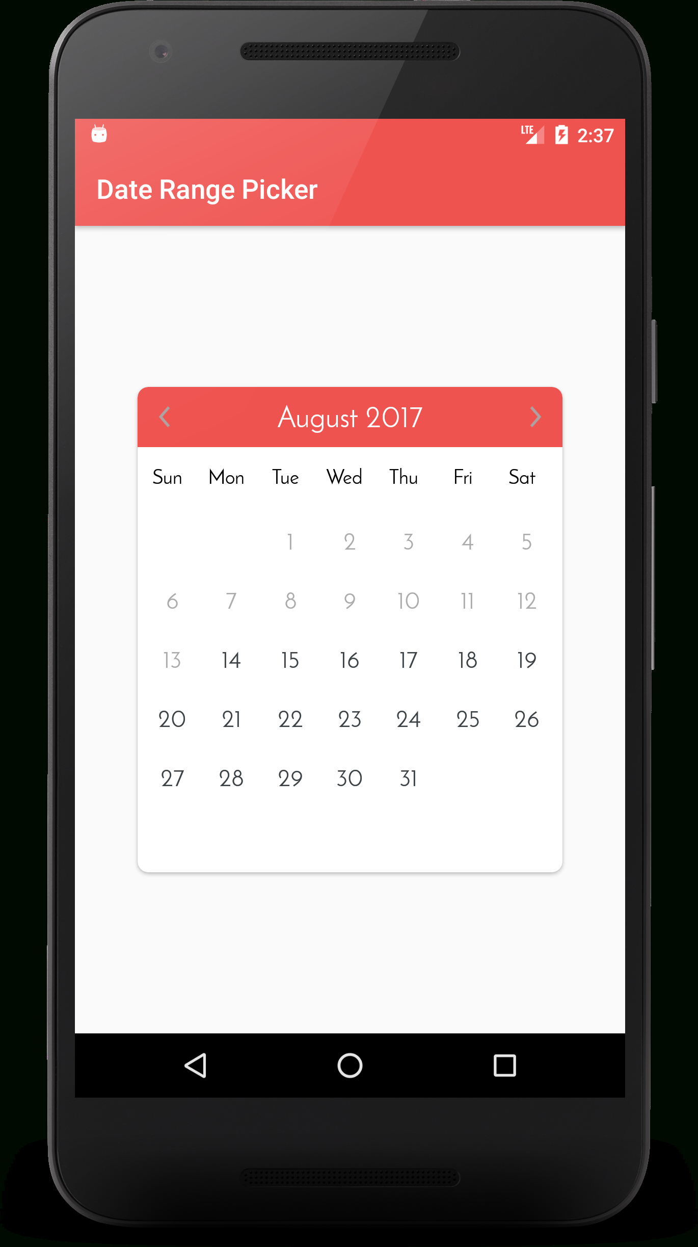 Github – Kibotu/Xamarin.awesome.calendar: An Android Custom Date Range Calendar