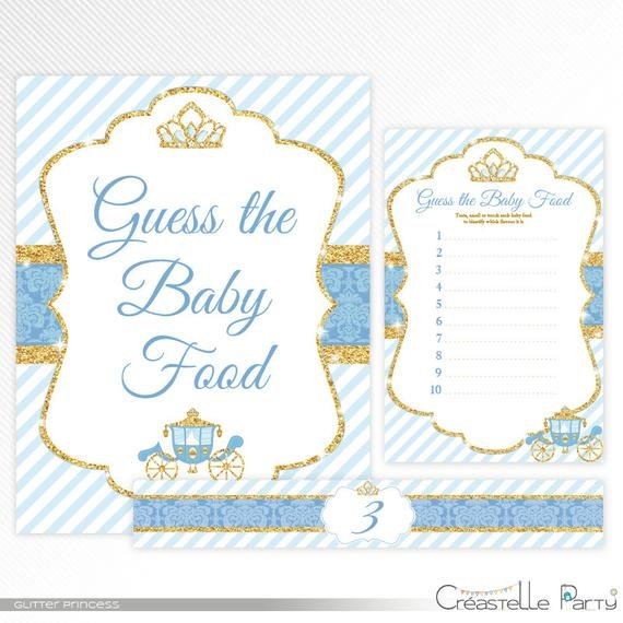 Glitter Princess Guess The Baby Food – Blue And Gold Baby Guess The Baby Printable