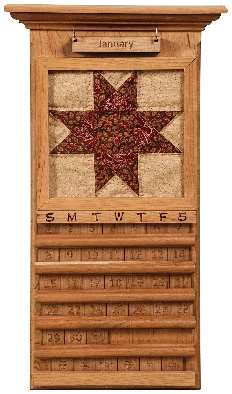Handcrafted Perpetual Quilt Calendar – Perpetual Wooden 3 Month Calendar Frame