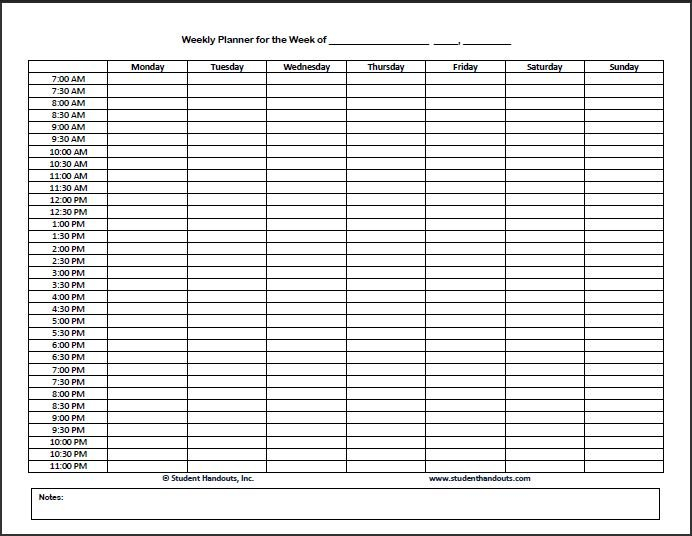 Hourly Schedule Template – Task List Templates Hour Calendar Template Printable