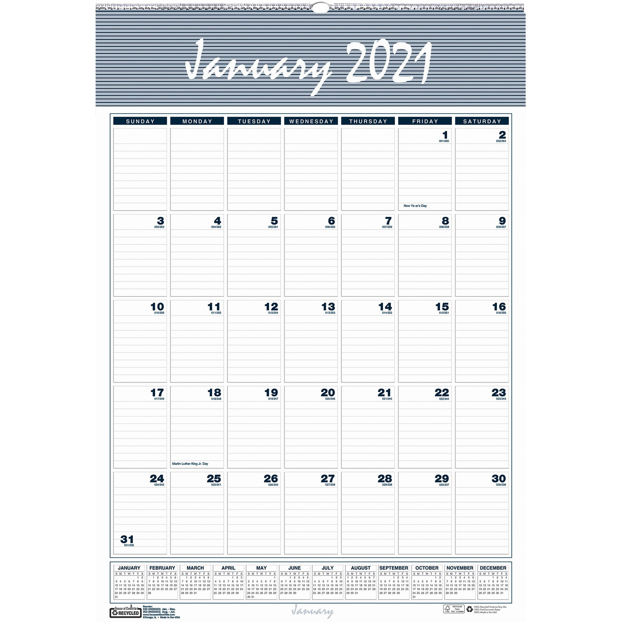 House Of Doolittle Bar Harbor 12 Month Wall Calendar – Yes 8 1/2 X 11 Monthly Calendar Pages