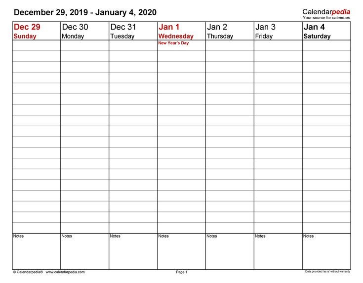 How To 1 Week Calendar Pdf For Sure Circumstances, You 1 Week Calendar Pdf