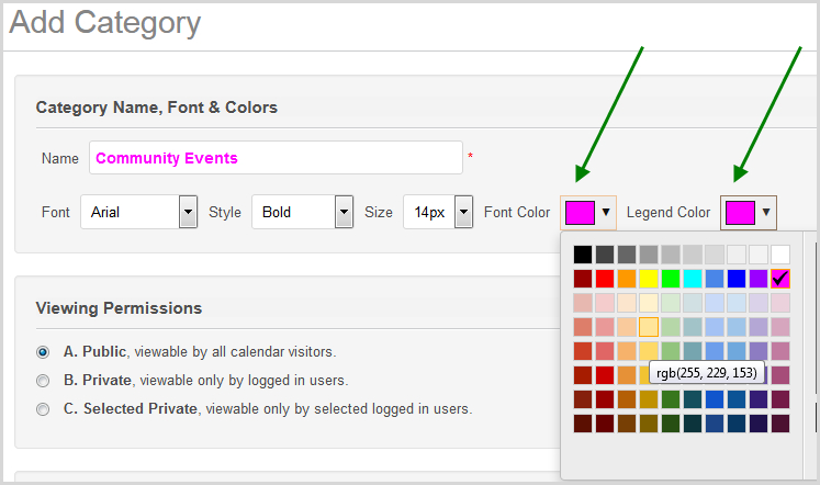 How To Color Code Event Titles – Calendarwiz / Knowledgebase Free Color Coded Calendars
