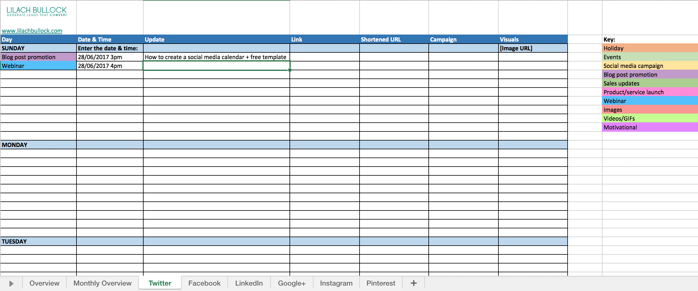 How To Create A Social Media Calendar + Free Template How To Make A Color Coded Calendar Parenting Time