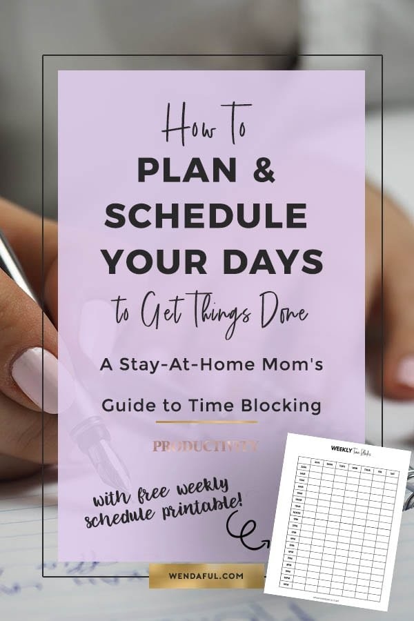 How To Plan & Schedule Your Days To Get Things Done 2 Week Calender Block Printable Sunday To Sunday