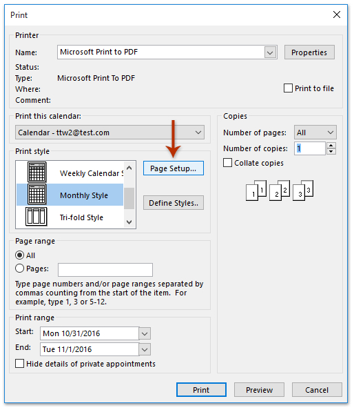 How To Print Calendar In Booklet Style In Outlook? Outlook Schedule 2Week Print