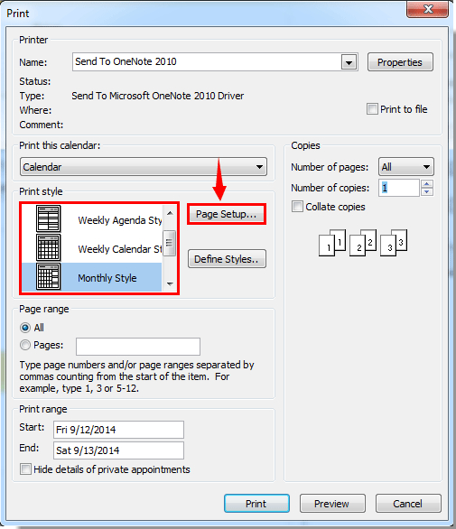 How To Print Calendar Without Weekends In Outlook? Outlook Schedule 2Week Print