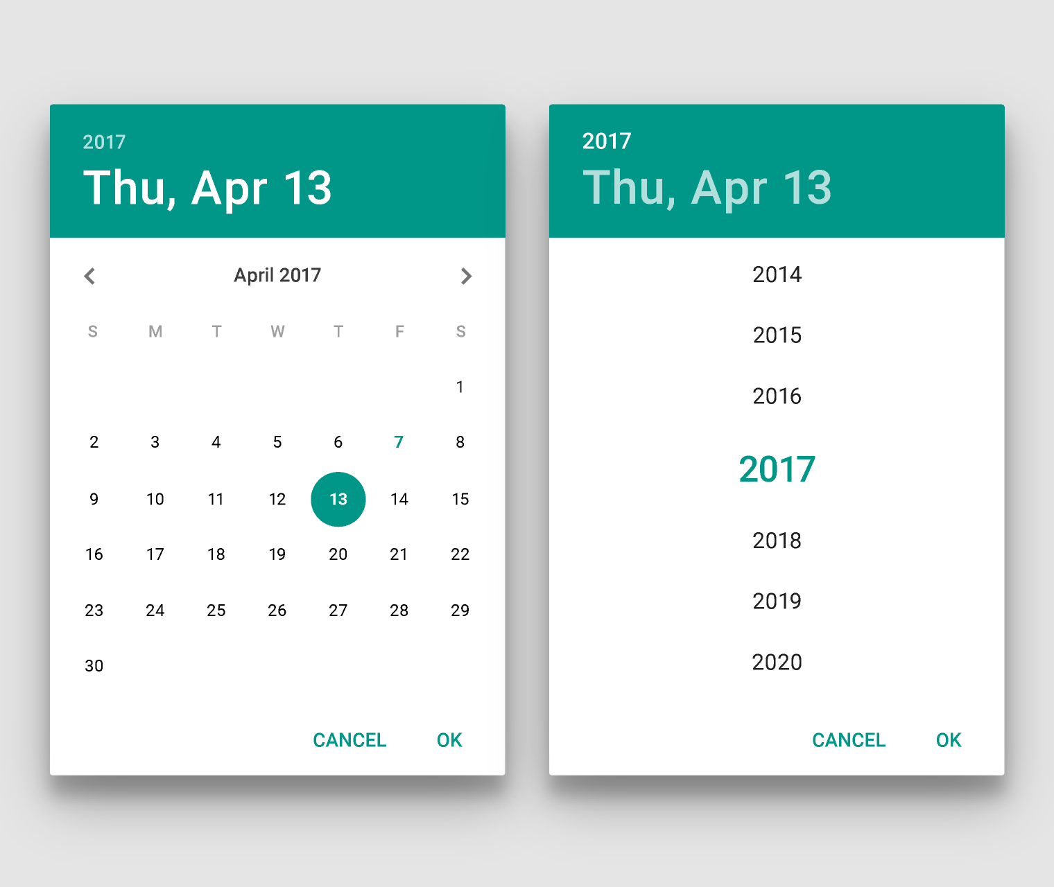 How To Set Default Display As Year Wise In Android Dialog Custom Date Range Calendar