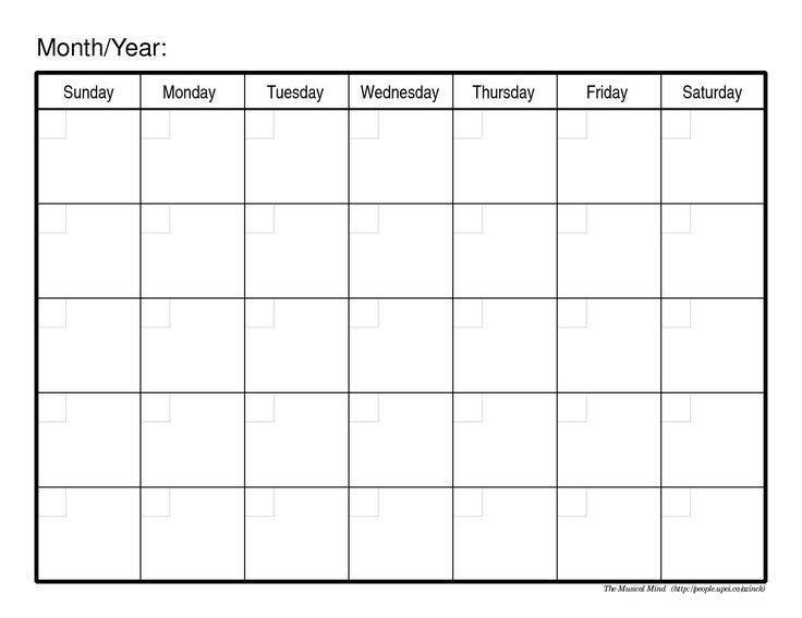 Http://Calendartemplateku/Monthly Calendar Free Fill In School Schedule