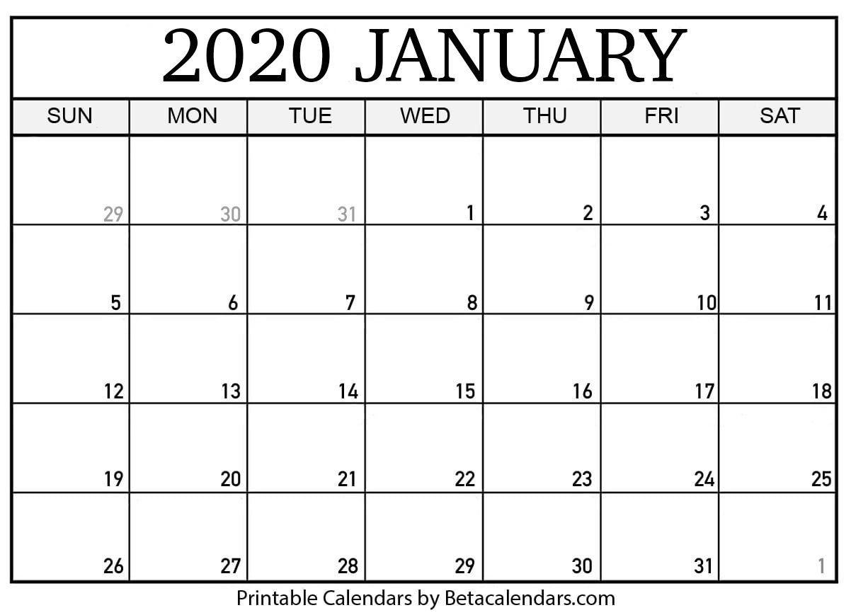 If You Download Your January 2020 Calendar Template, You Free Printable Fill In Calendars