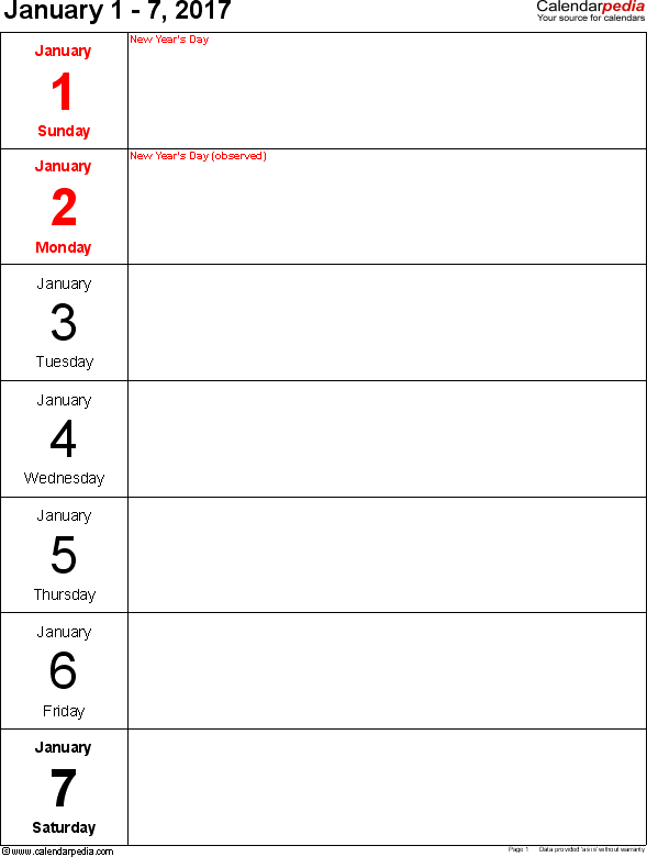 Image Result For Journal Seven Day Blocks For A5   Weekly 7 Day Router Blank