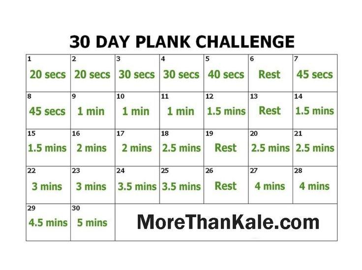 Innovative 30 Day Plank Challenge Printable Calendar 30 Day Squat Challenge Schedule Calendar