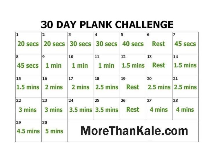 Innovative 30 Day Plank Challenge Printable Pdf Calendar 30 Day Plank Challenge Calendar Printable