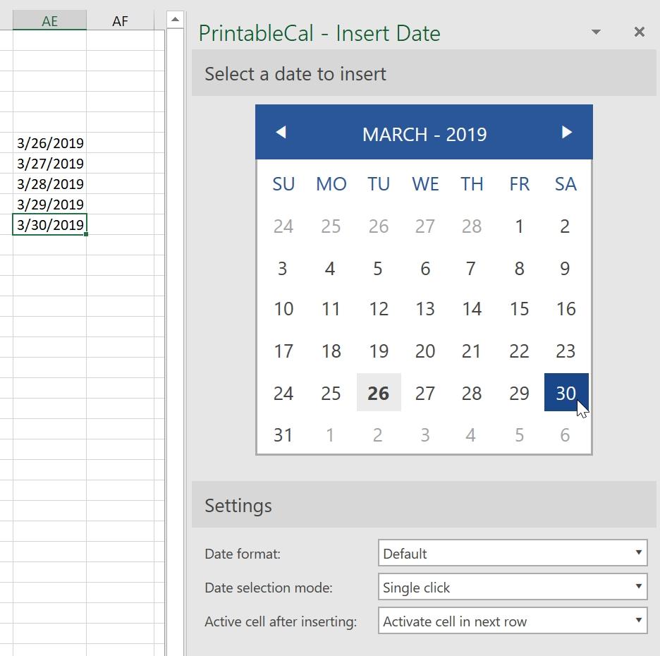 Insert Date Picker Drop Down Menu In Excel 2020 | Calendar Insert Calendar In Excel