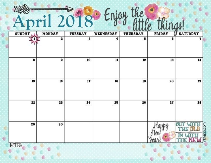 Inspirational April 2018 Quotes Calendar   January Blank 30 Day Calendar Starting May 24
