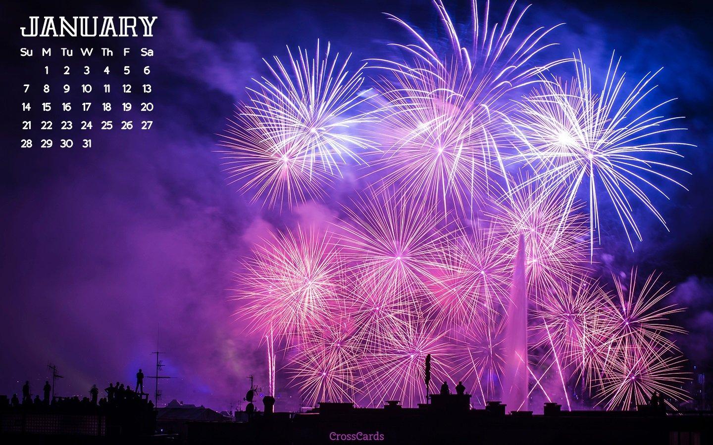 January 2018 – Fireworks Desktop Calendar  Free January Download Crosscards Monthly Calendar For Computer Background