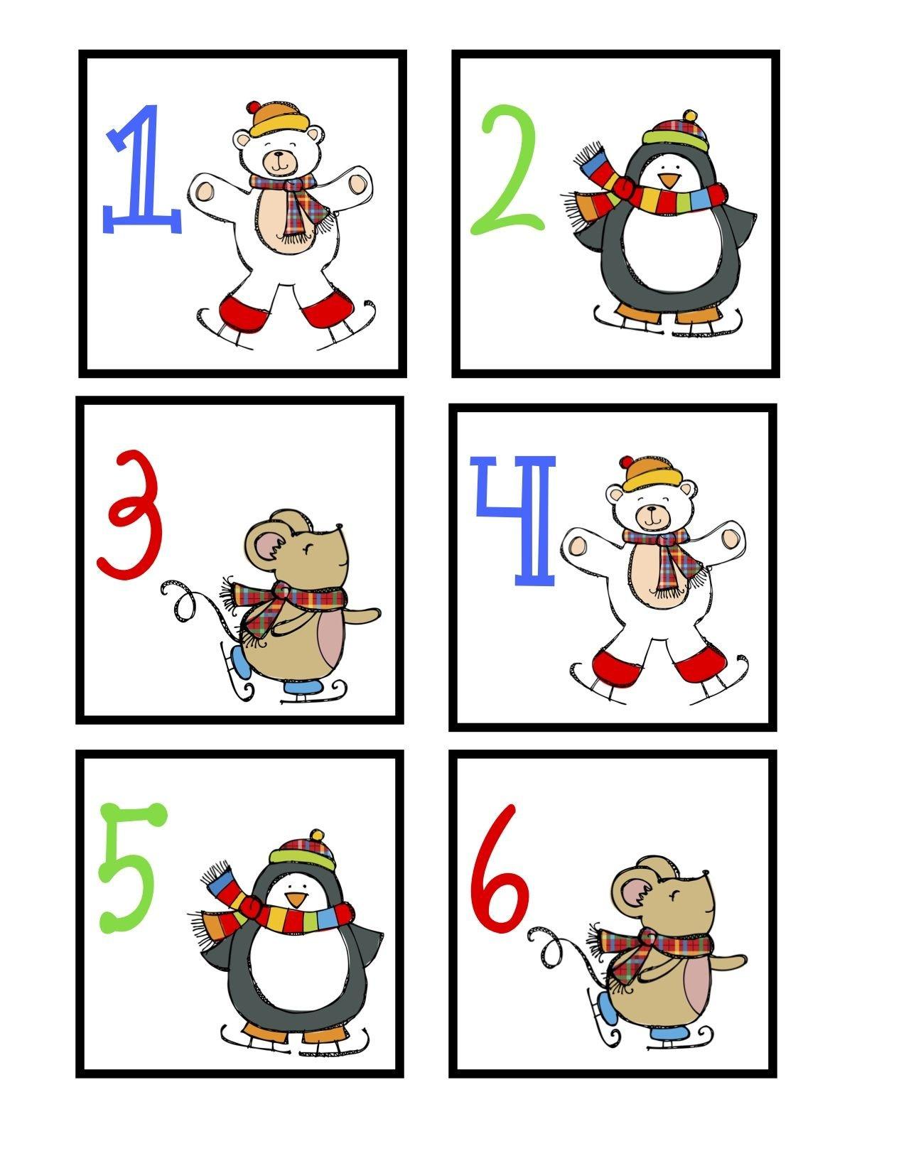 January Calendar Cards – Free | January Calendar Printable Numbers 1 31 Classroom Sets