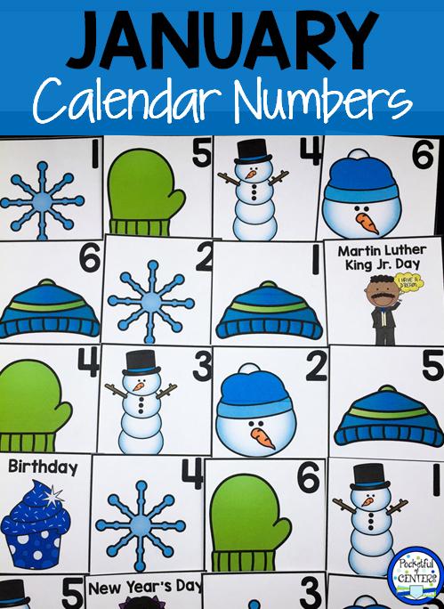 January Calendar Numbers | Calendar Numbers, January Printable Numbers 1 31 Classroom Sets