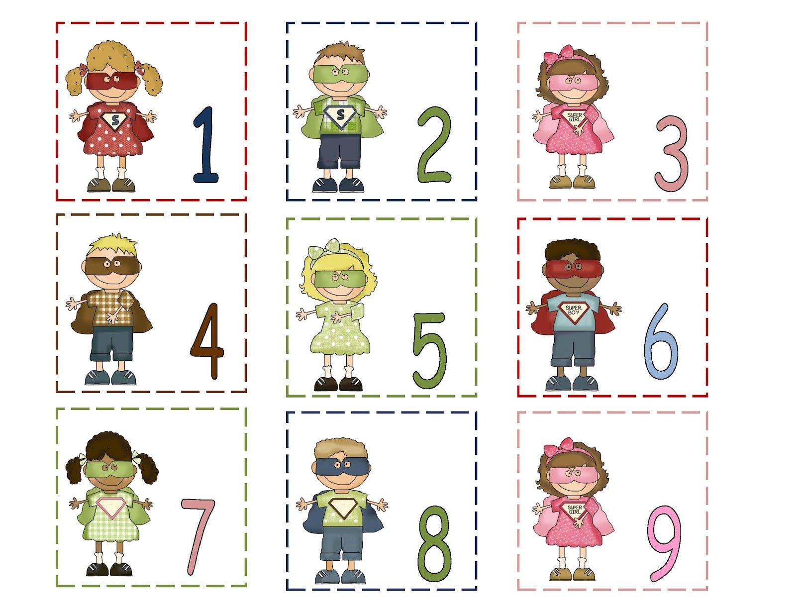 June 2012 ~ Preschool Printables Number Cards Until 31 Printable