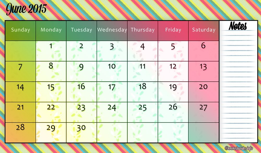 June 2015   The Crafty Lady In Combat Boots Printable Calendar I Can Edit