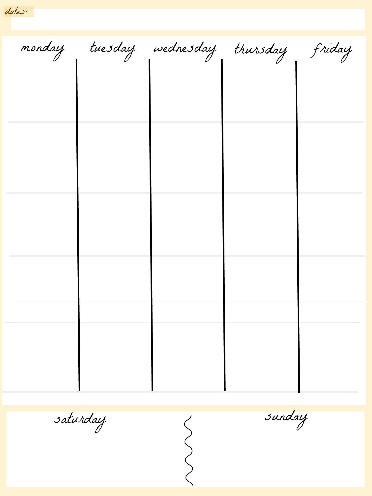 June 2018 – Page 4 – Template Calendar Design Free 4 Week Calendar Templates