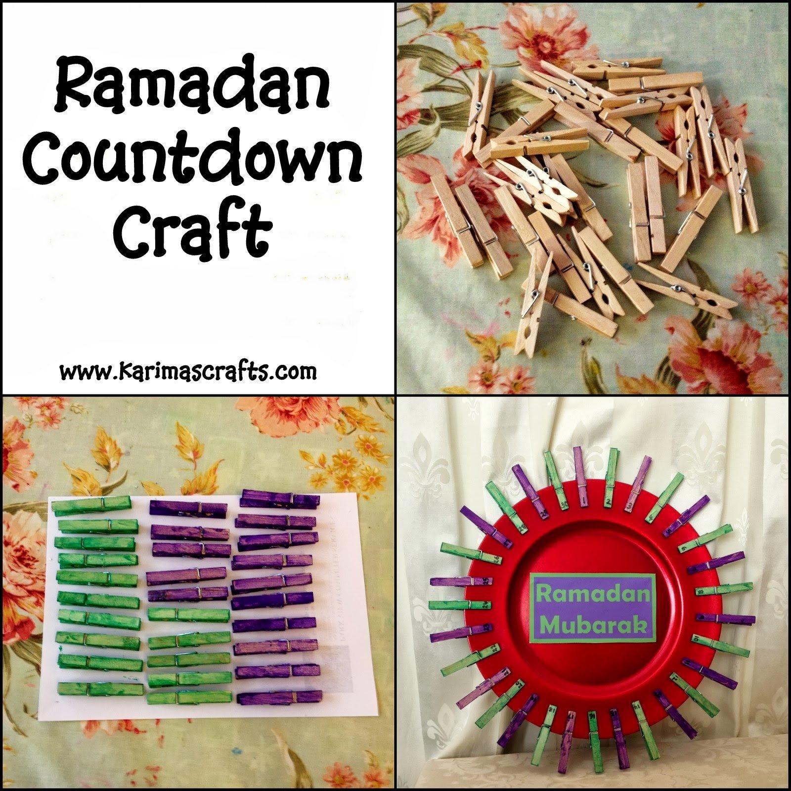 Karima'S Crafts: Ramadan Countdown Crafts – 30 Days Of Ramadan Countdown Free Printable