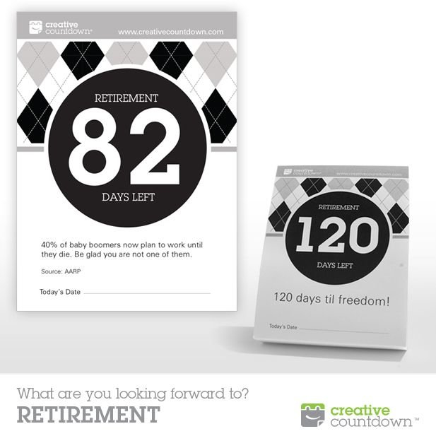 Know Someone Retiring This Year? 120 Day Countdown To Retirement Countdown Calendars Printable