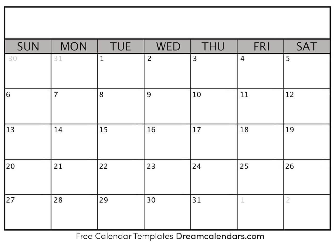 Ko Fi – Blank Printable Calendar Templates – Ko Fi ️ Where Printable Month Calendar With Times
