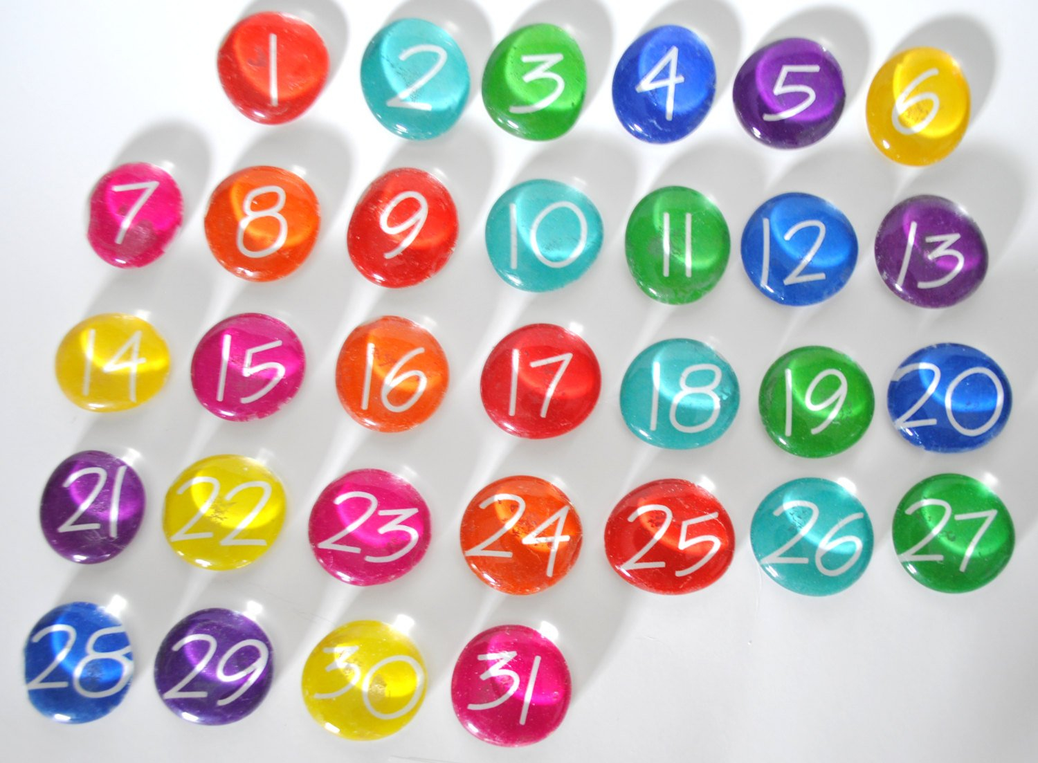 Large 31 Number Magnets Or Push Pin Calendar Set 2018 Numbers For Calendars 1-31 Toddlers