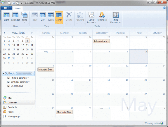 Live Mail 2012 And Outlook How Often Do Cozi And Outlook Sync