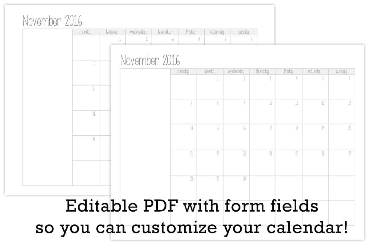 Make Your Own Monthly Calendar Printable   Tortagialla Blank Calendar That I Can Edit