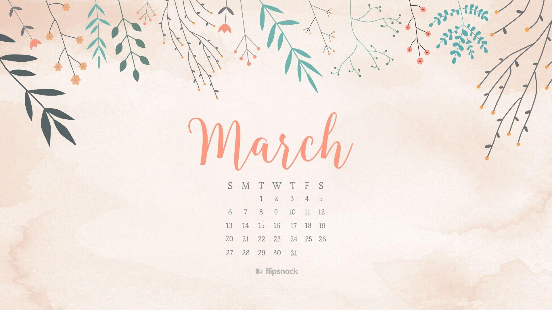 March 2016 Free Calendar Wallpaper – Desktop Background Download Crosscards Monthly Calendar For Computer Background