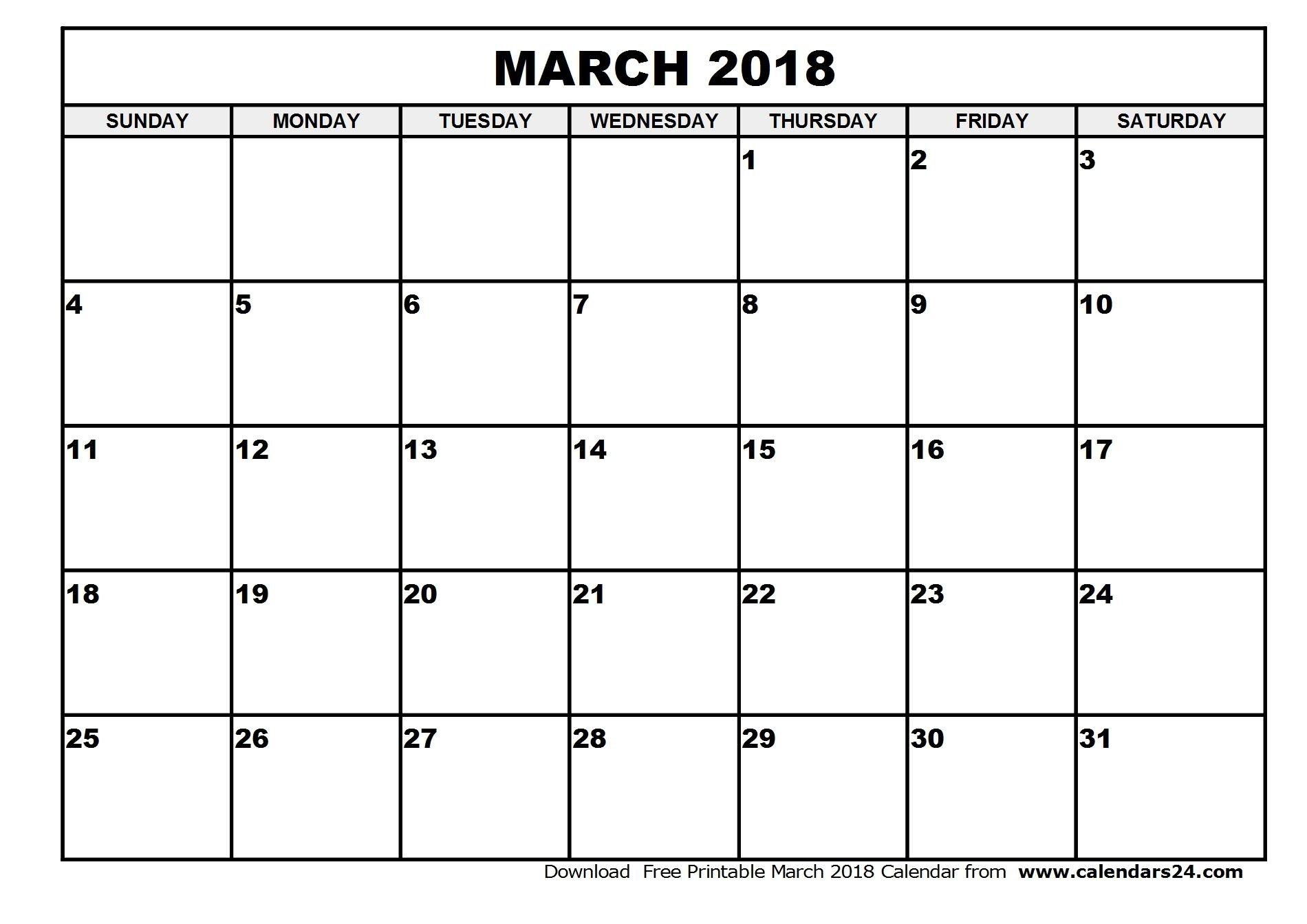 March-2018-Calendar-1 (1900×1343) | June Calendar Fill In June Calendar