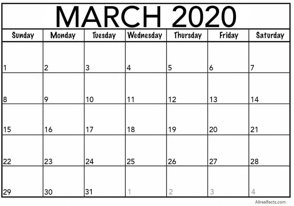 March 2020 Printable Calendar | Print, Edit & Customize As Printable Calenders You Can Edit