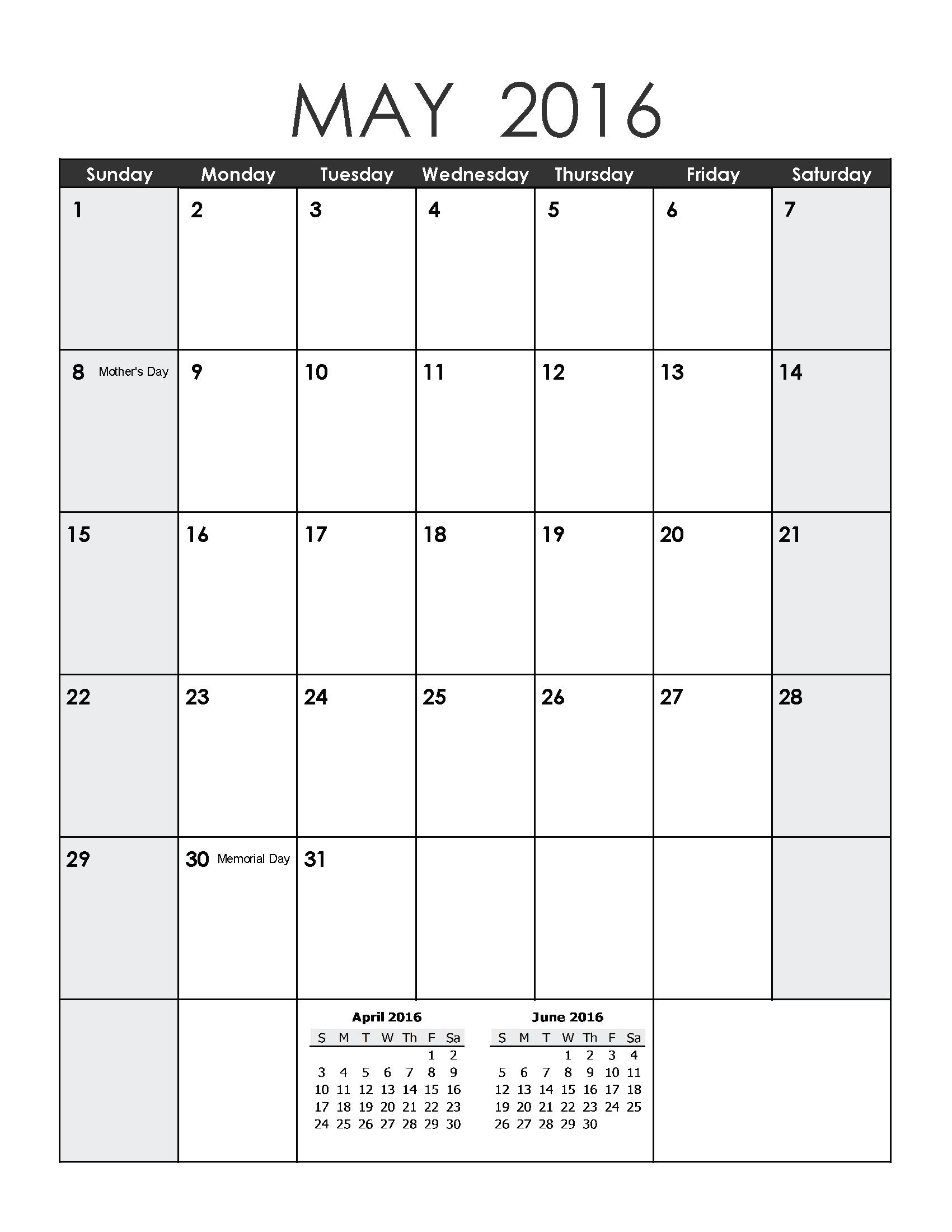 May 2019 Weekly Printable Calendar   Blank Templates Free Blank Calendar For One Week Printable