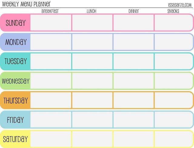Meal Plan Template   Free Printable Weekly Meal Planner 2 Week Activity Calendar Editable