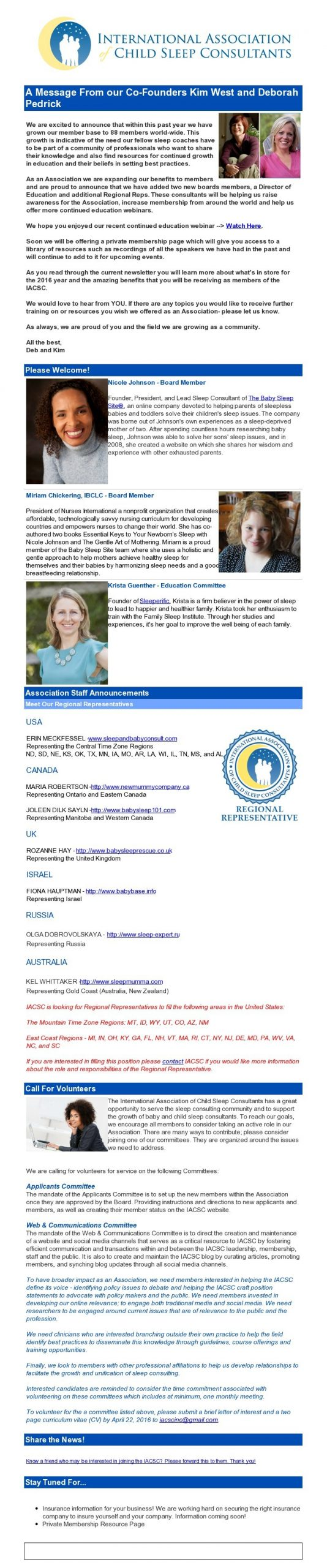 Member Newsletters | International Association Of Child Content Calendar For Member Newsletters