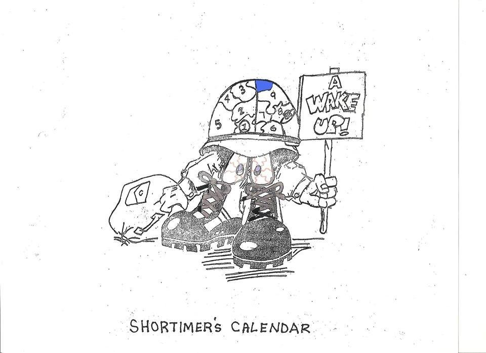 Military Short Time Calendar Graphics | Calendar Template 2020 Hunk Short Timers Calendar