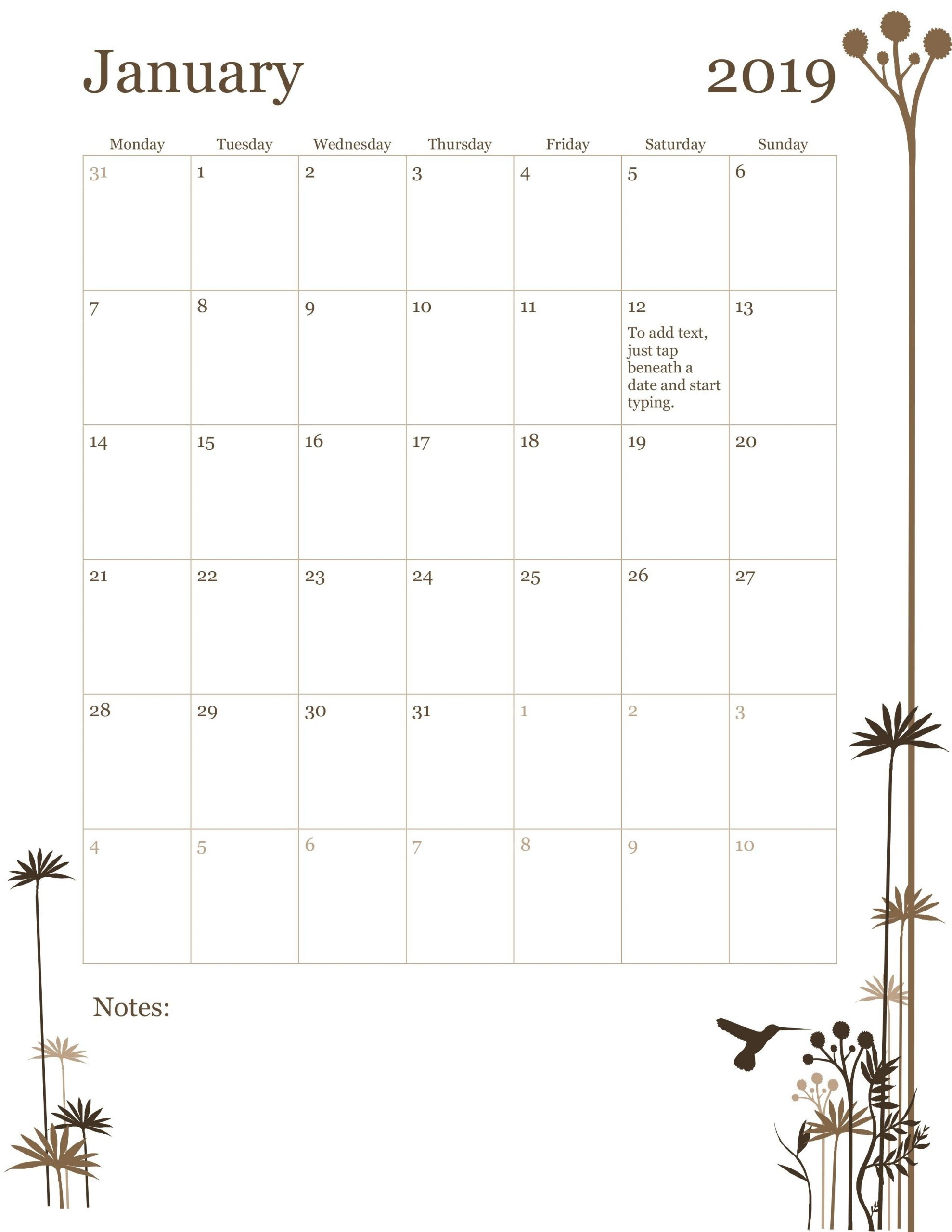 Monday Friday Monthly Calendar Template   Calendar Mon Fri Calendar Template