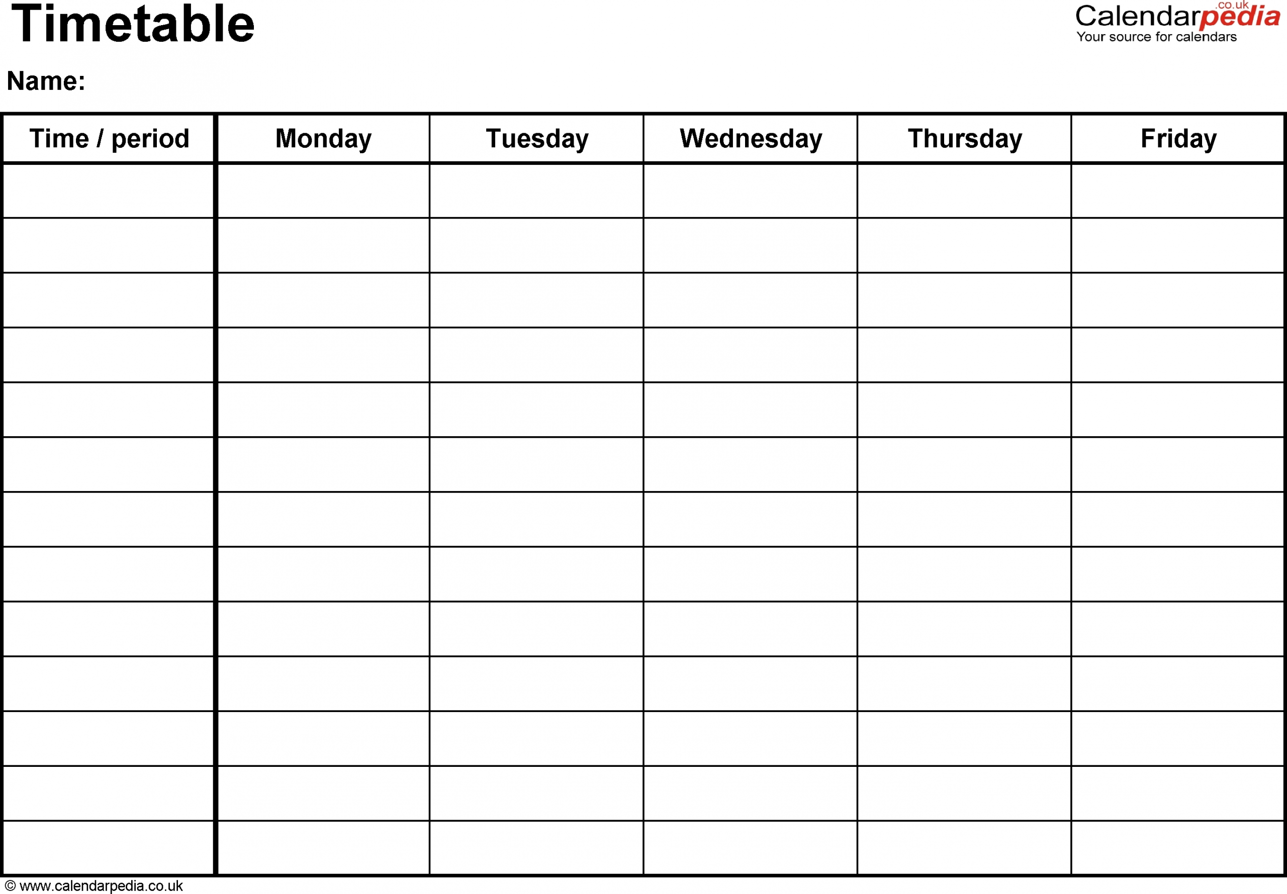 Monday Though Friday Timed Schedule – Calendar Inspiration This Week Monday To Friday Printable Calendar