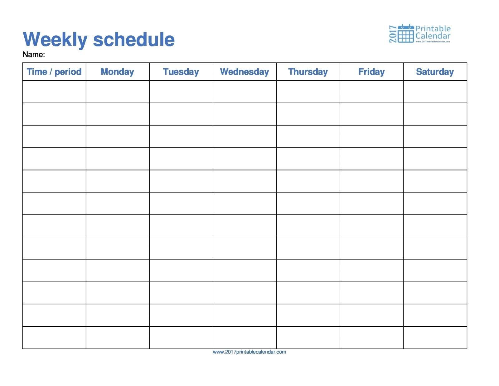 Monday Though Friday Timed Schedule – Calendar Inspiration Word Calendar Template Monday Through Friday
